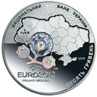 Аверс монеты UEFA Euro 2012TM Final Tournament. City of Lviv