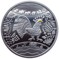 Реверс монеты The Year of the Rooster